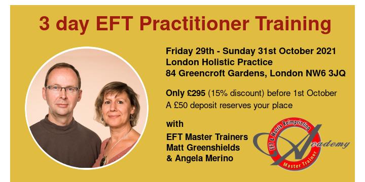 3 day EFT Practitioner Training